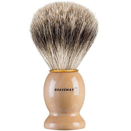 shaveway 100% original pure badger shaving brush. engineered for the best shave of your life.for all methods,safety razor,double edge razor,staight razor or shaving razor, this is the best badger