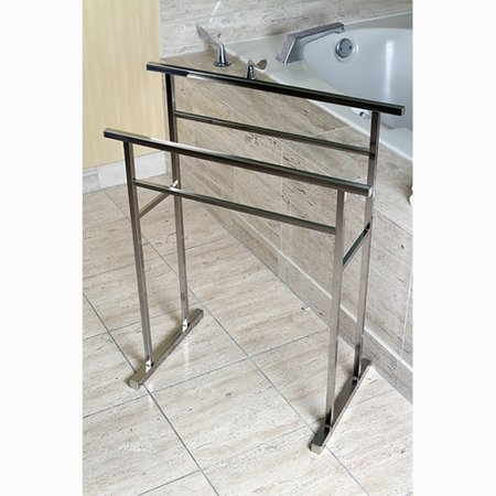 Kingston Brass Pedestal 2 Tier Towel Rack 24 62 x 9 84 x 32 09