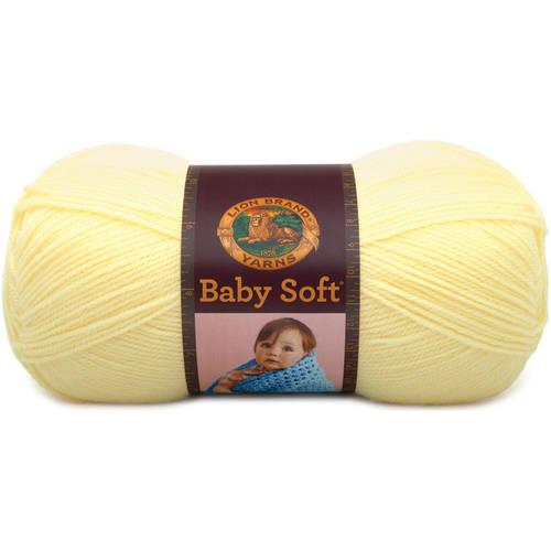Lion Brand Yarn 920-157A Babysoft Yarn, Pastel Yellow Multi-Colored