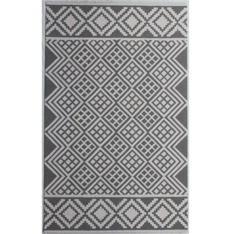 Bowery Hill 8' x 10' New Zealand Wool Rug in Slate Gray