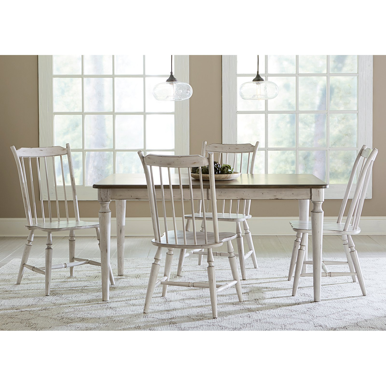Liberty Furniture Oak Hill 5 Piece Rectangular Dining Table Set