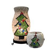 Dale Tiffany Tal100855 Christmas Tree Mosaic Tile Table Lamps - Black