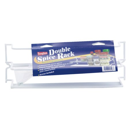 White Double Spice Rack ()