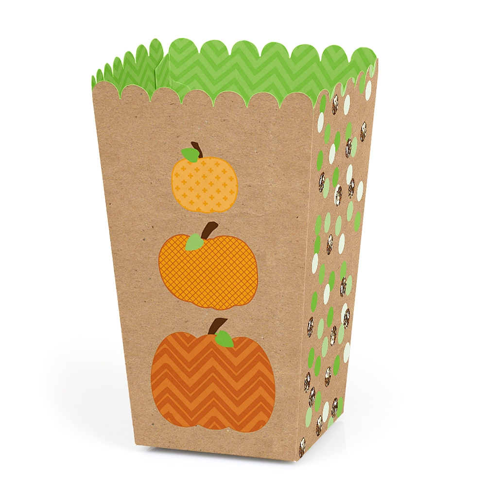 Pumpkin Patch - Fall & Halloween Party Favor Popcorn Treat Boxes - Set of 12