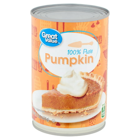 Great Value 100% Pure Pumpkin, 15 oz