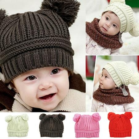 4a97e4d18bb Heepo - Heepo Cute Baby Toddler Kids Boys Girls Hat Knitted Crochet Beanie  Winter Warm Cap - Walmart.com