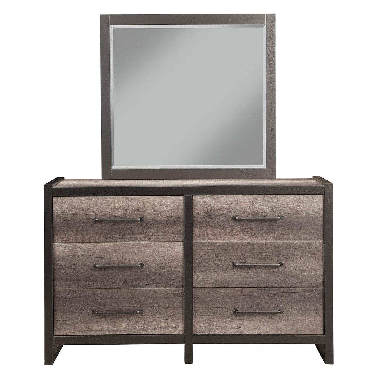 Alpine Furniture 6 Drawer Monarch Dresser