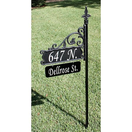 Boardwalk Signs Double Sided Super Reflective Address Sign 58