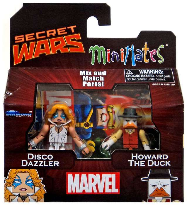 Marvel Minimates Series 64 Disco Dazzler & Howard the Duck Minifigure 2-Pack