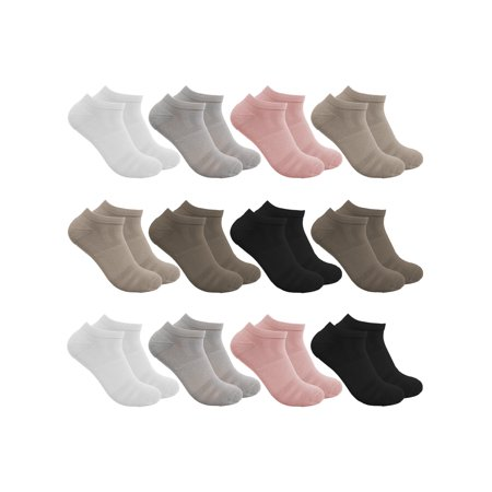 Sof Sole Socks For Women (12 Pairs) Comfort Performance No Show Socks, Low Cut Socks, Cute Ankle Socks, Womans Socks, Ladies Socks, Bulk Socks - Breast Cancer Socks Bulk