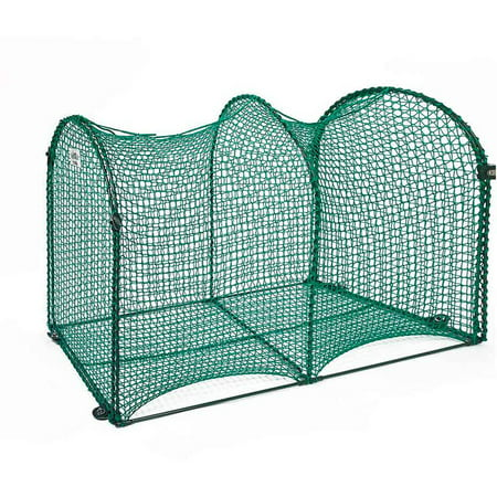 "Kittywalk Deck and Patio Outdoor Cat Enclosure, Green, 48"" x 18"" x 24"""