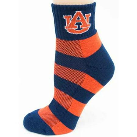 Auburn Tigers Striped Quarter Socks