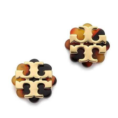 Tory Burch Women's Logo Flower Resin Stud Earrings -
