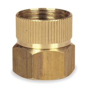 Westward 4KG88 Swivel 3/4 GHT(F) x 3/4 NPT(F) Brass Hose To Pipe Adapter