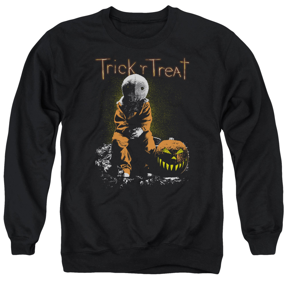 Trick R Treat Sitting Sam Mens Crewneck Sweatshirt