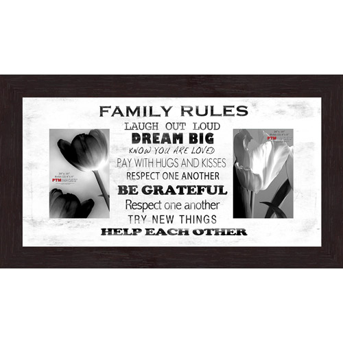 "Family Rules White VI 20"" x 10"" Collage Picture Frame"