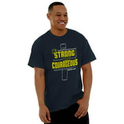 Jesus Short Sleeve T-Shirt Tees Tshirts Be Strong Courageous Christian Religious Gift