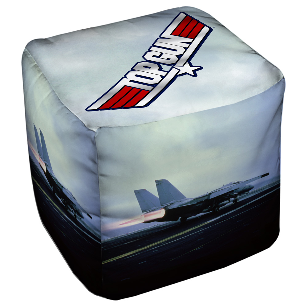 Top Gun Take Off Cube(Ottoman) White 18X18X18