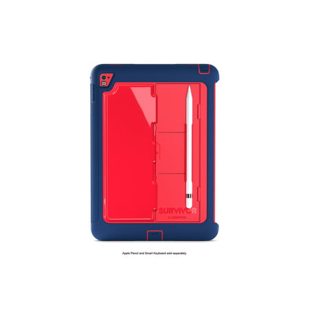 Smart Protection (Griffin Survivor Slim for iPad Pro 9.7-inch, Drop protection, screen protection, AND designed to work seamlessly with Apple's Smart Keyboard.< )