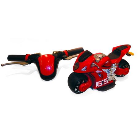 PLAYTEK Motion Steering 1:8 SCALE RC MOTORCYCLE RED