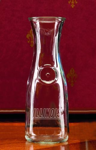 Illinois Fighting Illini 1 2 Litre Wine Carafe by Campus Crystal