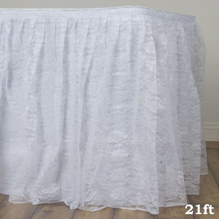 Prime Balsacircle Lace Banquet Table Skirt Wedding Party Trade Show Booth Events Birthday Linens Decorations Download Free Architecture Designs Ferenbritishbridgeorg