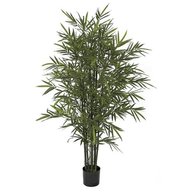 Autograph Foliages W-170055 5 ft. Bamboo Palm Trees with Green Canes