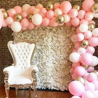 Balloons Arch and Garland Kit,112Pcs DIY Latex Balloon Arch Kit Balloon Decorative Arch Garland for Wedding Bridal Girls Birthday Party Baby Shower Decorations