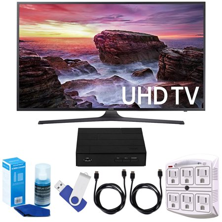 Samsung Un49mu6290 48 5   Led 4K Uhd 6 Series Hd Tv Bundle Includes Tv  2 Hdmi Cables  16Gb Flash Drive  Screan Cleaner  Surge Adapter  And Hd Digital Tv Tuner With Recording