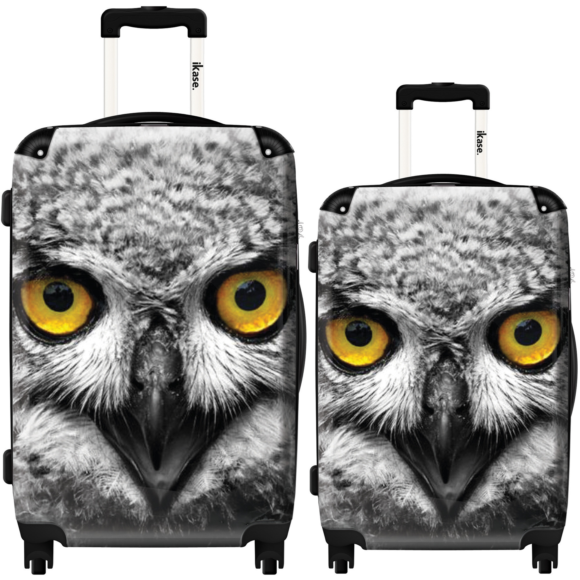 "Suitcase Great horned owl - Set 20"" & 24"""