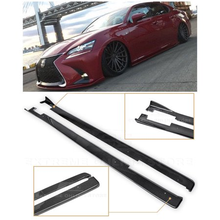 For 2013-Present Lexus GS-Series JDM Lexon Style CARBON FIBER Side Skirts  Rocker Panel Extension