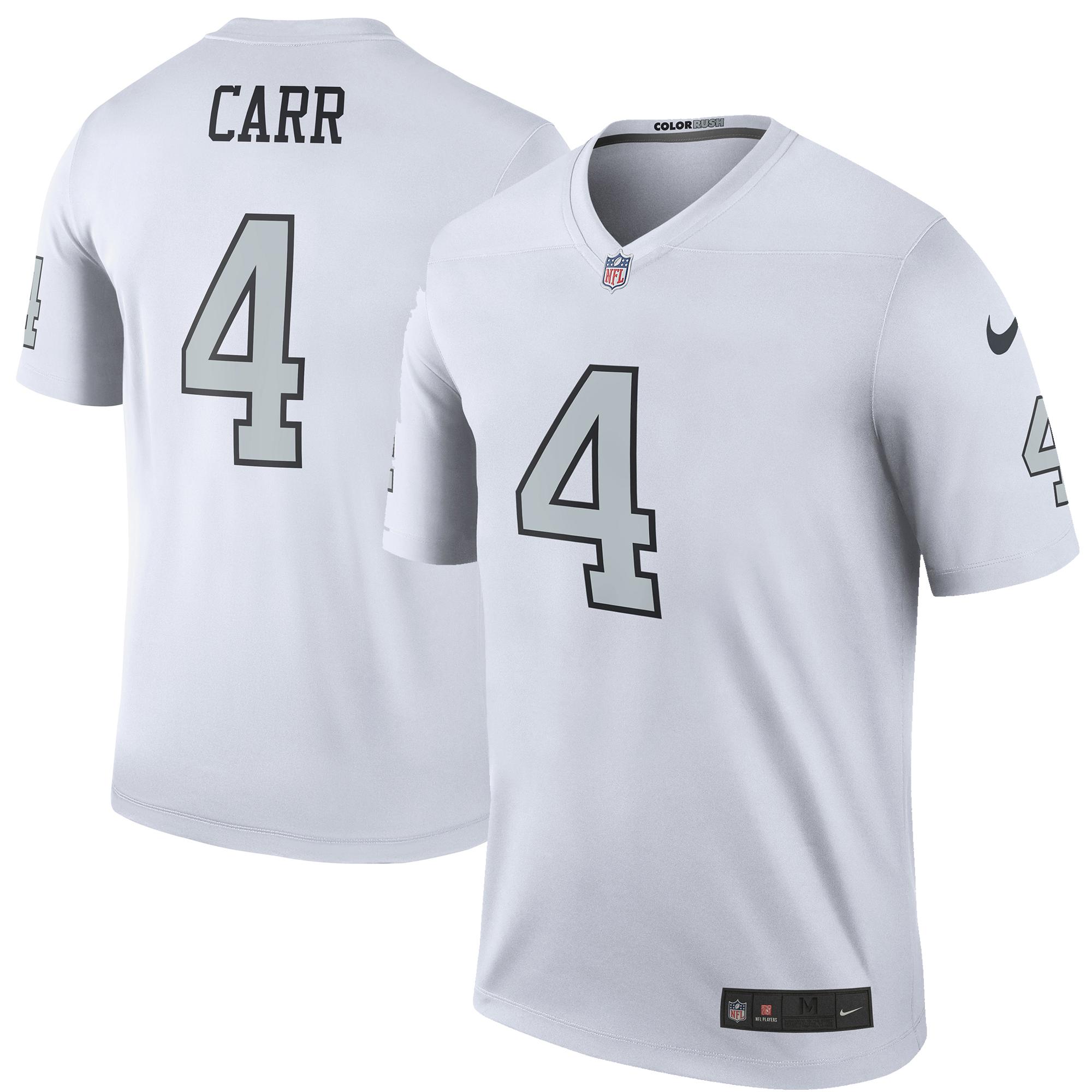 Derek Carr Oakland Raiders Nike Color Rush Legend Jersey - White