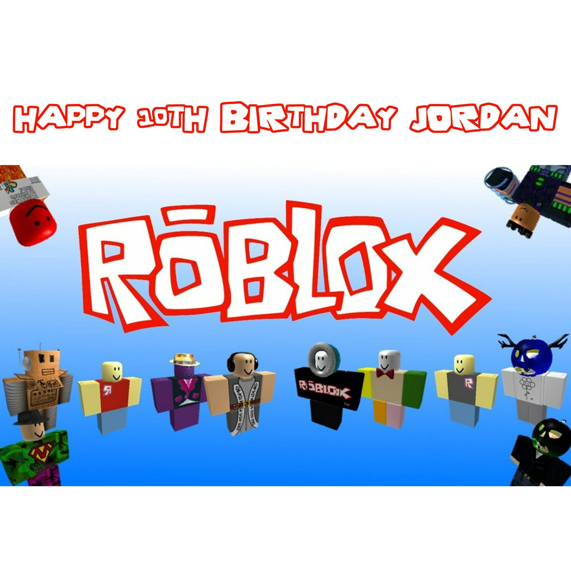 Roblox Custom Player Happy Birthday Edible Cake Topper Image