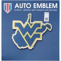 West Virginia Mountaineers State Shape Acrylic Metallic Auto Emblem