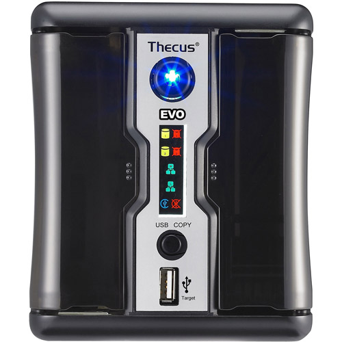 Thecus N2200EVO 2-Bay NAS Server with AMD Cavium Processor and 256MB DDR2 Memory
