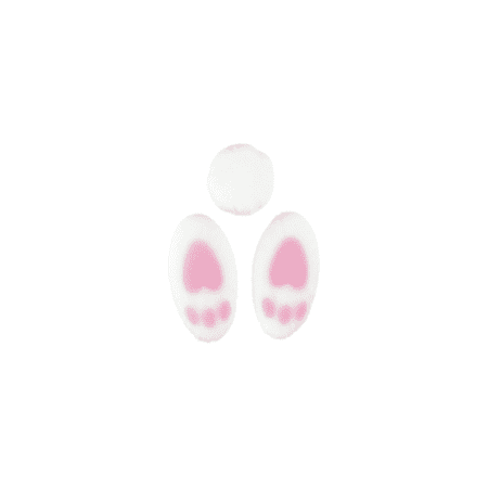 24pk Bunny Tails and Toes Set 3/4