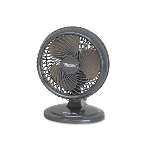 "Holmes Lil' Blizzard 7"" Two-Speed Oscillating Personal Table Fan HLSHAOF..."