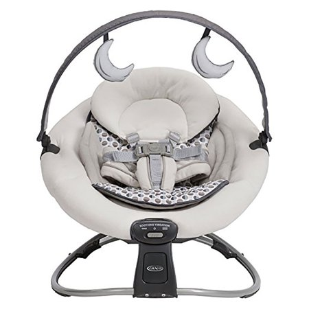 Graco Duet Moon Rocker Lightweight Stationary Vibrating Seat with Travel