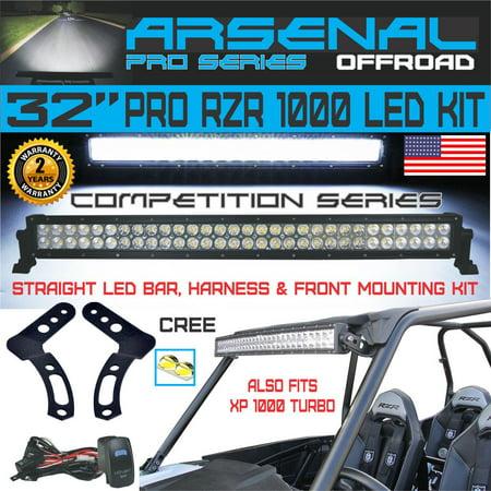 """No.1 32"""" Arsenal Polaris RZR XP900 XP1000 LED Light Bar KIT 180w Flood/Spot Combo Beam CREE 3w LED"""