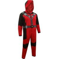 Marvel Comics Deadpool Hooded Fleece Union Suit