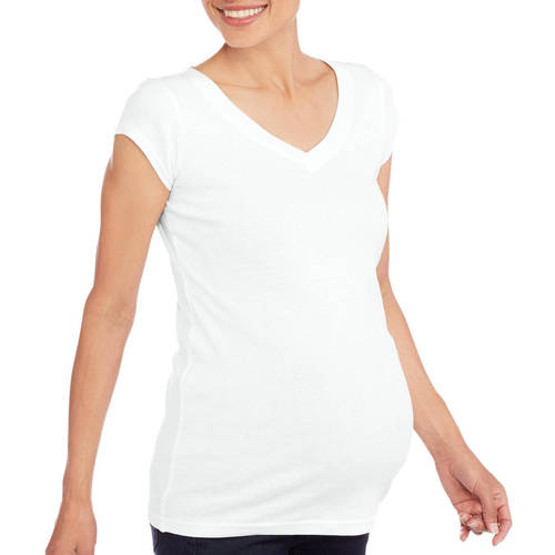 Planet Motherhood Maternity Short Sleeve Vneck Tee--Available in Plus Size