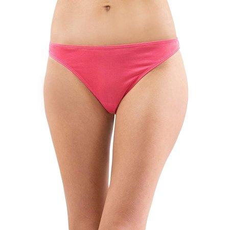 Intimo Women's Comfy Silk Low Rise Thong, Fuschia, Medium 100% Silk Thongs