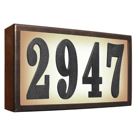 QualArc SRST-AB60-BRZ 6 in. Serrano Standard Lighted Address Plaque Do It Yourself Kit - Bronze Frame Color - image 1 of 1