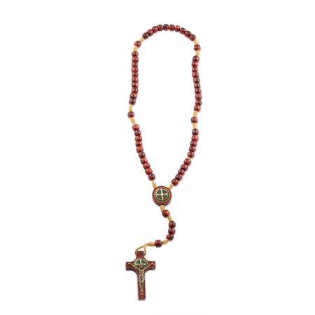 St Benedict Mini Wood Rosary for Prayer, Rosarios Catolicos, Made in Brazil - 10 (St Patrick Rosary)