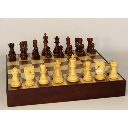 Old Russian Sheesham Chess Set (Boogie Board Size For 10 Year Old)