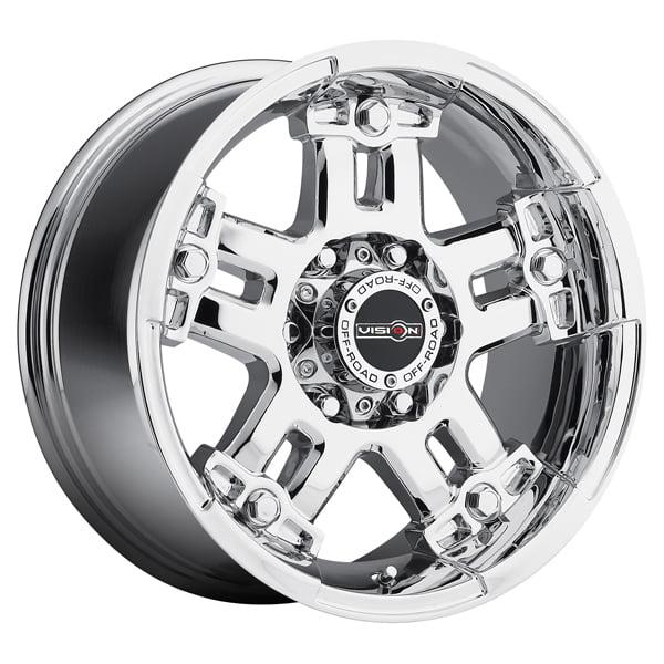 "18"" Inch Vision 394 Warlord 18x9 5x127(5x5"") -12mm Chrome Wheel Rim"