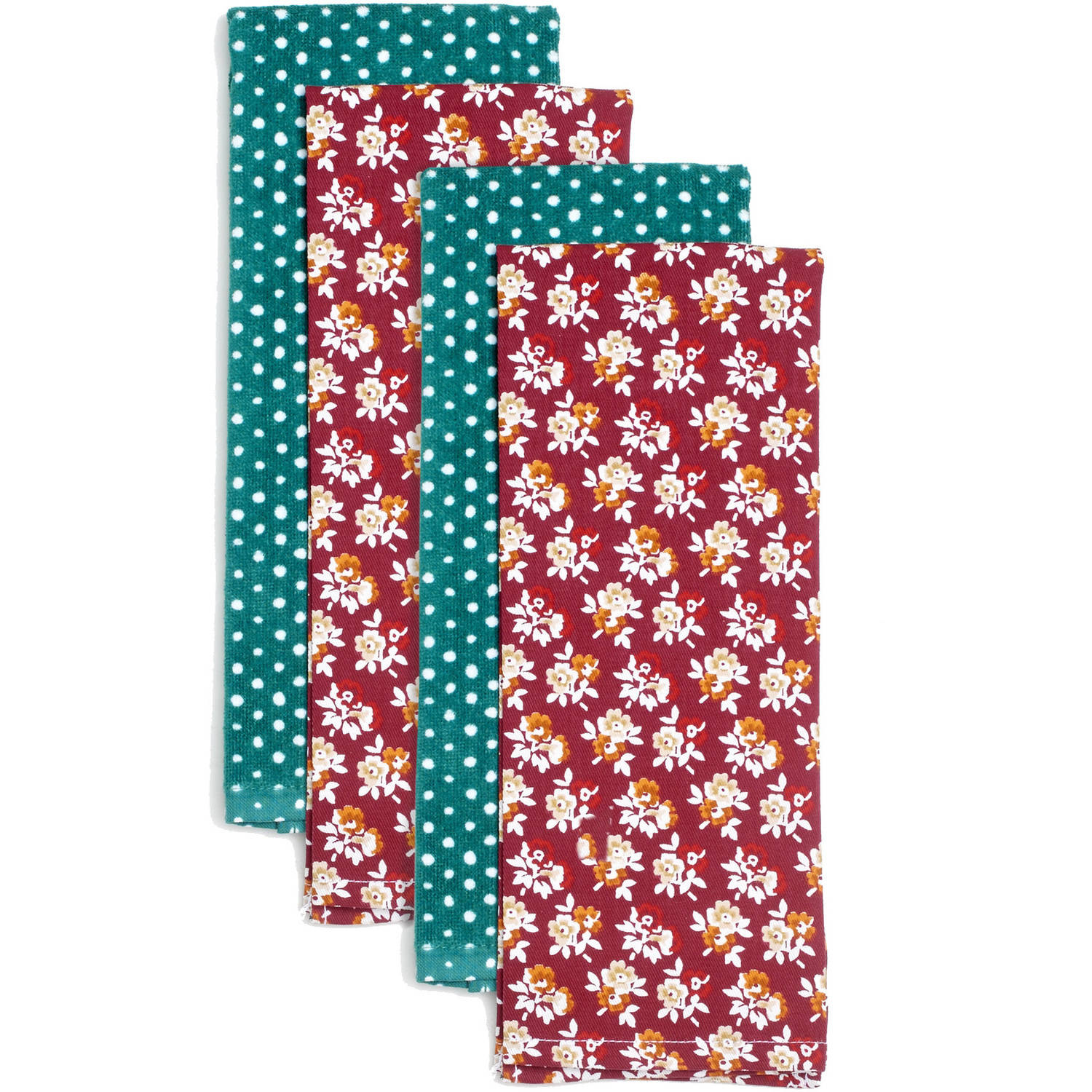 Pioneer Woman Fall Flowers Kitchen Towels, Set Of 4