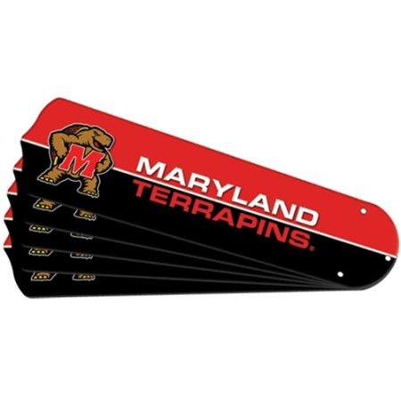 Ceiling Fan Designers 7992-MAR New NCAA MARYLAND TERRAPINS 42 in. Ceiling Fan Blade Set