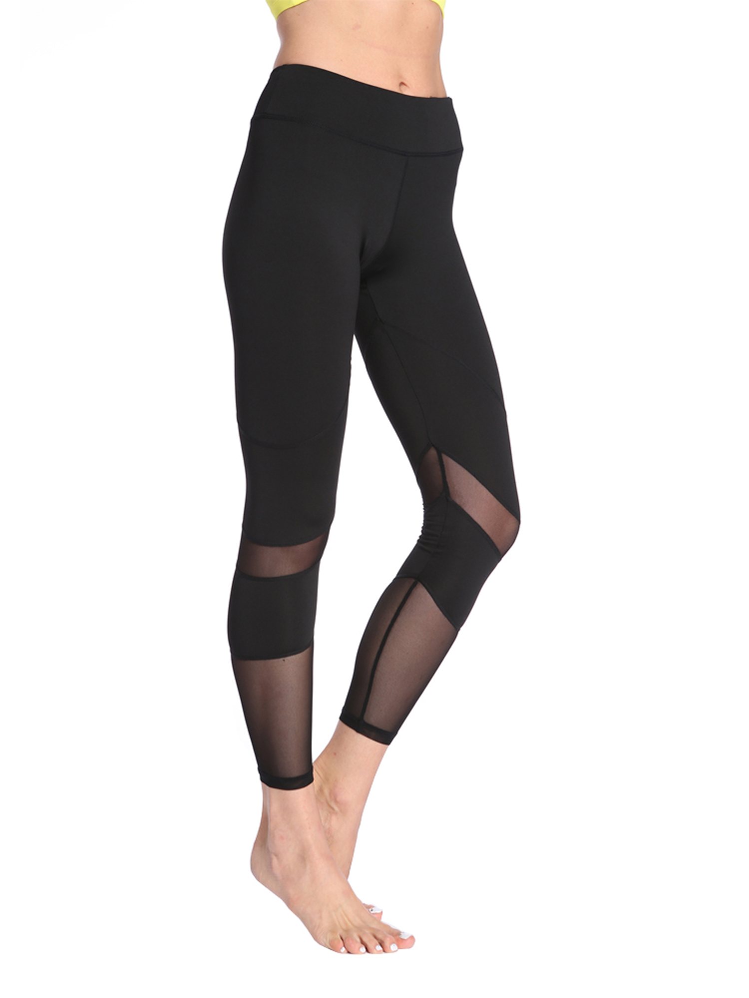 e4fbd708e1 OwnShoe - OwnShoe Women's Yoga Pants Mesh Stitching Athletic Running Tights  Leggings - Walmart.com