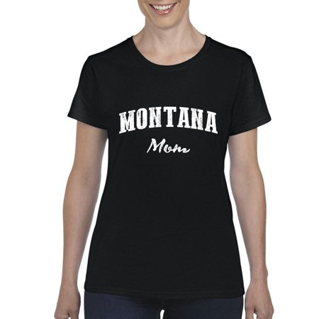 Mt Mom Montana Flag Billings Map Bobcats Grizzlies Home University Of Montana Womens T Shirt Tee Clothes